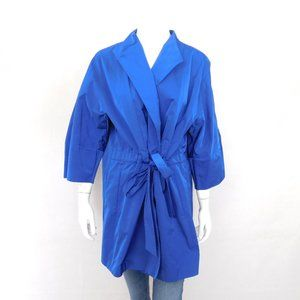 Lafayette 148 Blue Tie Waist Blouse XXL